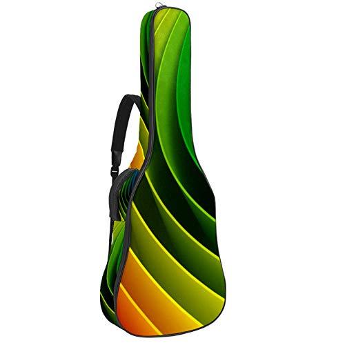 Gitarrentasche für Akustikgitarre, 104 cm, hochwertig, doppelt verstellbar, mehrfarbig