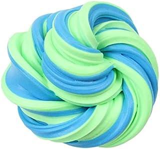 ふわふわフロームスライムダブルカラーストレスリリーフクラフト泥のおもちゃないホウ砂綿スライムクレイポータブルモデリングクレイ