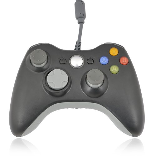 Dragonpad Wired USB Controller (Black) for PC & Xbox 360