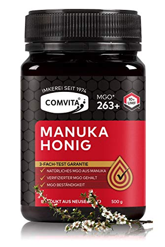 Comvita Manuka Honig 263+ MGO (UMF™ 10+) – 500 gr Manuka-Honig – Das Original aus Neusseland – Mit zertifizierten Methylglyoxal Gehalt