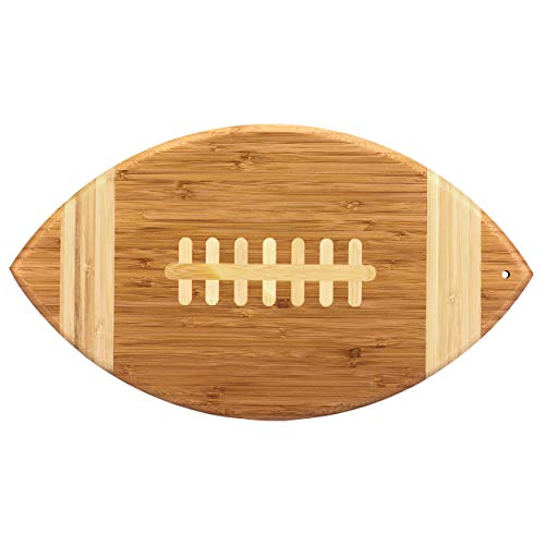 Totally Bamboo 20-7670 Football Cutting Board / Serving Platter