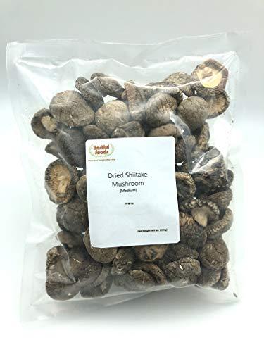 Zestful Foods Dried Shiitake Mushroom, Medium Size, 3-4 cm, 8 Oz.