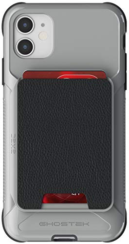 Ghostek Exec iPhone 11 Pro Wallet Case Card Holder with Built-in Magnet for Mounts Easily Detachable Leather Card Pocket Wireless Charging Compatible for 2019 Apple iPhone 11 Pro (5.8 Inch) - (Gray)