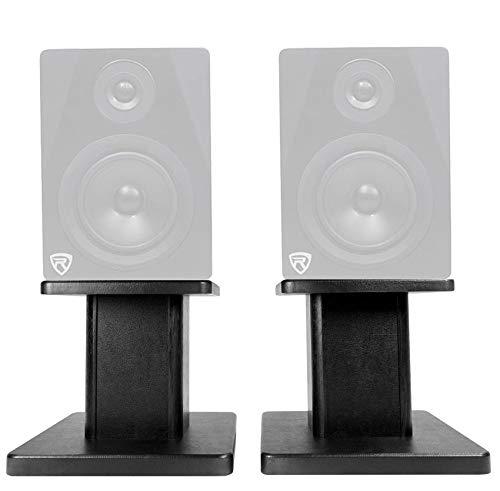 Fantastic Prices! Rockville 8 Black Studio Monitor Speaker Stands for Rockville DPM8B