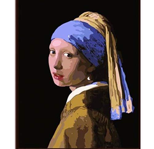 Chica Johannes Vermeer con un pendiente de perla - Pintura p