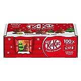 Nestlé KitKat Festive Friends - 100 mini KitKat snacks con envoltorio individual - Total: 820 g