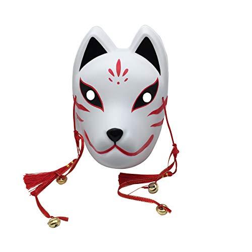 YangYong Fox Cosplay Mask for Masquerade Christmas, Japanese Kitsune Kabuki
