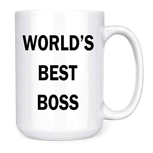 Dunder Mifflin (The Office) World's Best Boss TV Television Show Ceramic Mug Coffee (Tea, Cocoa) 11 OZ Mug, Official Michael Scott Mug As Seen On The Office