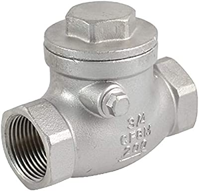 """3/4"""" NPT Swing Check Valve Female PN16 CF8M,Stainless Steel SS316 WOG200 PSI from LZ"""