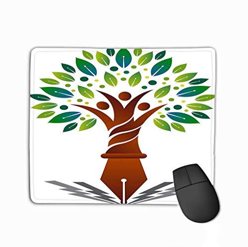 Alfombrilla de ratón Ilustración Arte Educación Logotipo del árbol genealógico Fondo Aislado Educación Logotipo del árbol genealógico Psicodélico Mousepad 25 * 30Cm