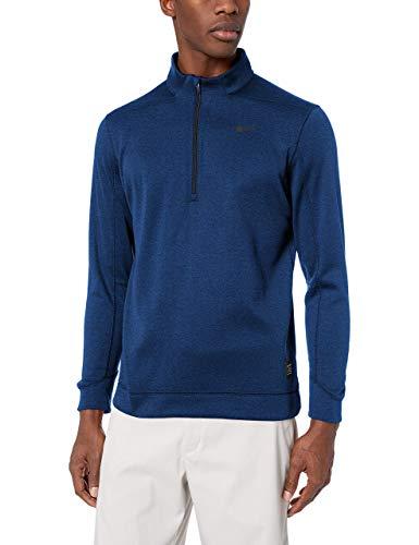 NIKE Men's Therma Top Half Zip Golf Sweater, Blue Void/Black, X-Large