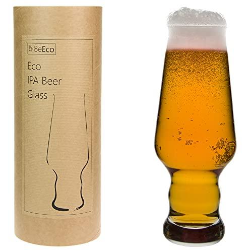 BeEco Öko IPA 390ml | Elegant & Praktisch Craft Bier-Gläser | Bierglas 1er Set | In einer Pappröhre | 100% Recyclebar
