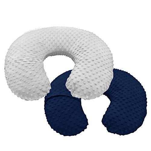 Minky Nursing Cover | Nursing Pillow Cover | Minky Baby Cover | Plush Breastfeeding Pillow Slipcover | Soft Fabric Fits Snug On Infant Baby Girl Boy | 2 Pack
