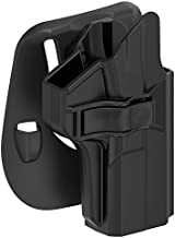 TEGE S&W M&P 9mm/.40 Full Size Holster, Custom Molded Outside Waistband Paddle Holster Also Fits Smith and Wesson MP 2.0 Compact 9MM/.40, OWB Carry, Right-Handed