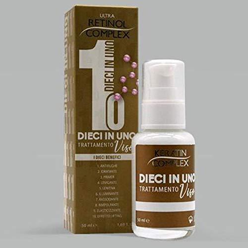 Tratamiento Facial 10 en 1 Antiarrugas, Hidratante, Tratamiento para el rostro 50ml