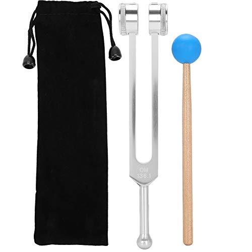 Tenedor de afinación de 136.1HZ, aleación de aluminio, juego de horquillas de energía de afinación para meditación y yoga con martillo, horquilla de curación para reparación de ADN, sonido curativo y