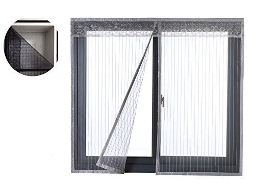 Liveinu Moustiquaire de Porte Ou Fenetre Magnetique Rideau Moustiquaire De Porte Avec Aimants Gris 120x140cm