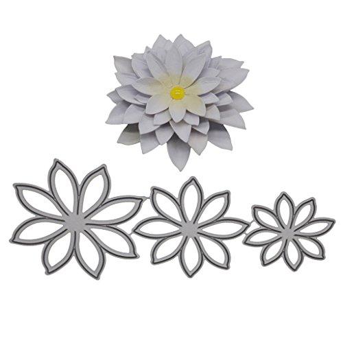Milue Narzisse Metall Stanzformen Schablone für DIY Scrapbook Papier Karten Basteln Handarbeit Silber