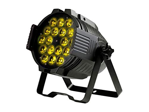 Monoprice Stage Wash PAR Stage Light (RGBWA-UV) | 18 Watt, x 18 LED, 6-Channel and 10-Channel DMX Modes - Stage Right Series