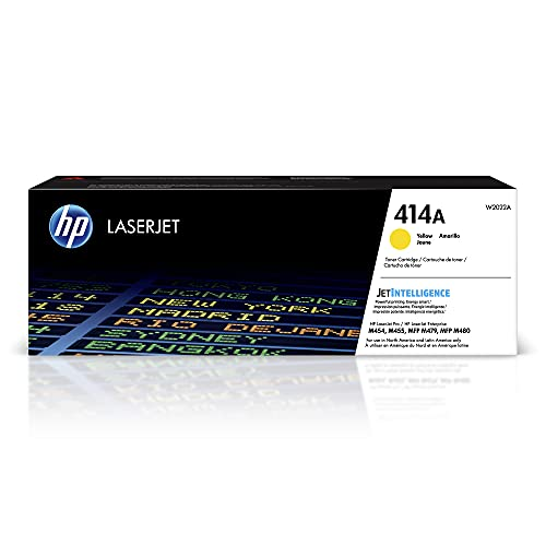 HP 414A   W2022A   Toner-Cartridge   Yellow   Works with HP Color LaserJet Pro M454 series, M479 series