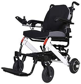 Silla de ruedas eléctrica, portátil plegable silla de ruedas Lightweight Movilidad Eléctrica for los inválidos de edad avanzada Antiguo aleación de aluminio de la rueda de Tránsito Estable Presidente