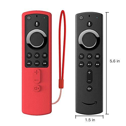 SIKAI Custodia in Silicone Compatibile con Telecomando Fire TV Stick 4K Shockproof Antiscivolo Pelle Leggero per Fire TV Cube Fire TV (3a Generazione) Silicone Cover Protettiva (Rosso)