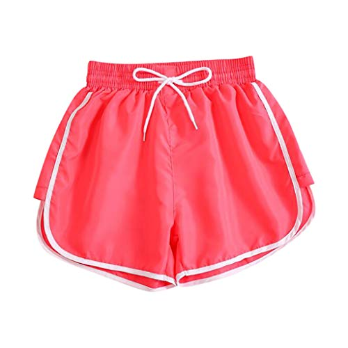 Lowest Prices! Workout Shorts for Women - Middle Waist Patchwork Color Drawstring Shorts - Athletic ...