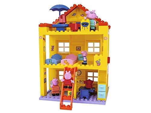 BIG-Peppa Pig Haus, Peppa´s House, Construction Set, BIG-Bloxx Set bestehend aus Familie und Gebäude, 107 Teile, Multicolour, für Kinder ab 18 Monaten