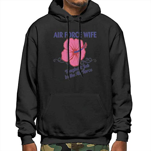 MLTseown Homme Sweats à Capuche, Sweat-Shirt à Capuche, Air Force Wife Men's Polyester Hoodie Pocket Sweater Jackets