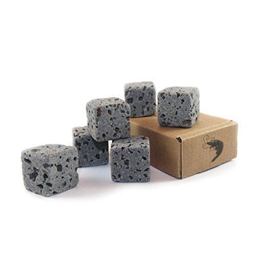 6 Eco Bricks - Décoration purificatoire en roche volcanique pour aquarium | Rochers de décoration aquarium