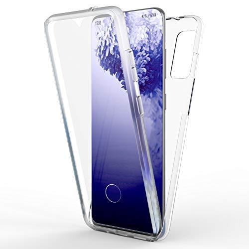 NALIA 360 Grados Carcasa Compatible con Samsung Galaxy S20 Ultra Funda, Transparente Full-Body Case Claro Proteccion Integral Hardcase Trasera & Delantera Protector Pantalla, Delgado Cover