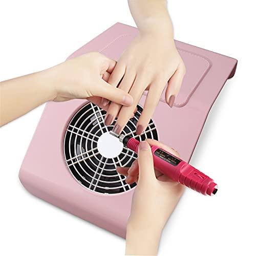 ZYC Máquina colector de Polvo de uñas para Herramientas de pedicura de manicura Nails de succión Fuerte Herramienta de Arte 40W Ventilador de uñas para manicura aspiradora