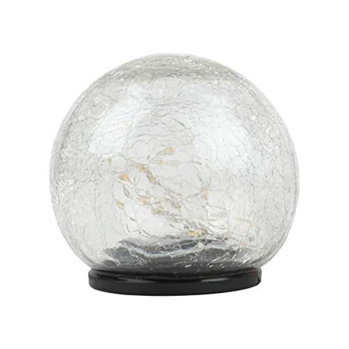 WUHNGD Lámpara solar de bola de cristal agrietado, resistente al agua, lámpara de césped LED solar decorativa para jardín, jardín, patio, camino, etc
