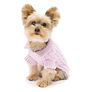 Stinky G Lavender Aran Dog Sweater Size #10 Small