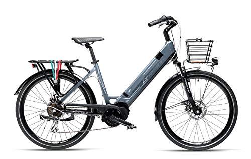 Armony Modena Evo, Bicicletta Elettrica Unisex Adulto, Antracite Nero, 26'