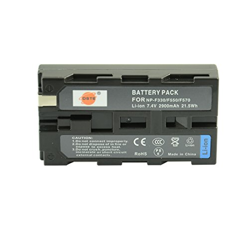 DSTE Ersatz Batterie Akku für Sony NP-F330 NP-F530 NP-F550 NP-F570 CCD-RV100 CCD-RV200 CCD-SC5 CCD-SC5/E CCD-SC55E CCD-SC55 CCD-SC6 CCD-SC65 CCD-SC7 CCD-SC7/E CCD-SC8/E CCD-SC9 CCD-TR1 CCD-TR11 Kamera