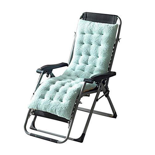 AJH Cojines para sillas Winter r Cojines Antideslizantes, Suaves y cómodos Estera de Asiento portátil Jardín Patio Cama Acolchada Gruesa Reclinable Silla de relajación Funda de as