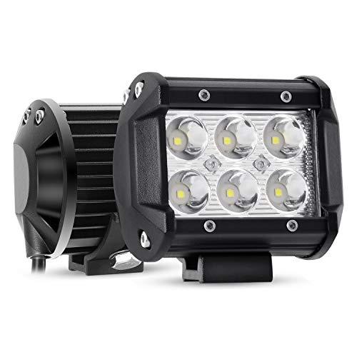 YEEGO 4 Pulgada Faro Foco LED Tractor, 4' Faro Trabajo Led 18W 1800LM LED Faros de Trabajo 12V-24V Focos LED para Tractores para Coche,SUV, UTV, ATV, Off-Road,Camión