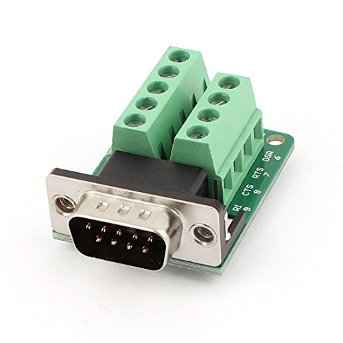 uxcell DB9 D-SUB 9 Pin Male Adapter RS232 to Terminal Connector Signal Module