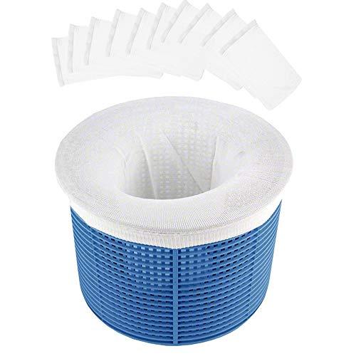 Chaussette filtrante Piscine,Chaussettes de Skimmer de Piscine,Panier filtrant Piscine,Pool Skimmer Socks,Panier d'écumoire de Piscine (10)
