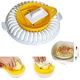 Aemiy - Bandeja para horno, 1/3 piezas, horno de microondas, sin grasa, patatas, frutas, patatas fritas, cortador de manzanas crujientes y platos para el hogar, herramienta de horneado multifuncional