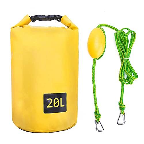 Auplew Bolsa impermeable 2 en 1 para kayak, kayak, saco de arena, ancla de arena, para kayak, barco de motor, saco de arena, saco de arena, ancla de arena, saco impermeable