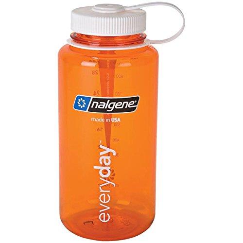 Nalgenesans BPA 32 oz Wide Mouth Tritan Bouteille d'eau - orange w/White Cap