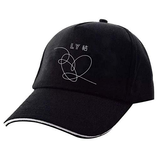htrdjhrjy Geschickten Kpop Baseball Kappe Love Yourself Snapback Freizeit Verstellbar Dad Hut Hiphop Hut - Schwarz 5, One Size