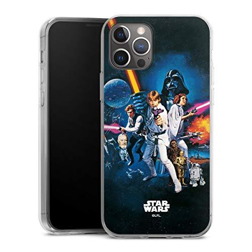 DeinDesign Silikon Hülle kompatibel mit Apple iPhone 12 Pro Case transparent Handyhülle Fanartikel Star Wars Episode IV