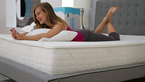Snuggle-Pedic Ultra-Luxury Mattress That Breathes - Patented Cooling Airflow Transfer System - Kool-Flow Bamboo Cover, USA Made, Best Orthopedic Support & Flex Memory Foam (Queen)