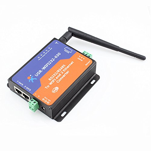 USR-WIFI232-630 Serial RS232/ RS485 to WiFi Server with 2 Channel RJ45, [Importado de UK]