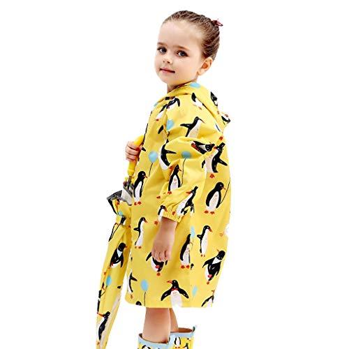 Regendicht Regenjas S/M/L/regenjas XL / 2XL Kinder poncho luchtdoorlatend pupil met ritssluiting jongen en meisje regenjas Solide (Color : C, Size : S)