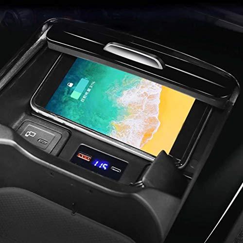 Placa de carga del cargador del teléfono de carga inalámbrica de 15W para Mercedes Benz W177 W247 A180 A200 AMG A35L GLB CLA A B Clase 2019 2020