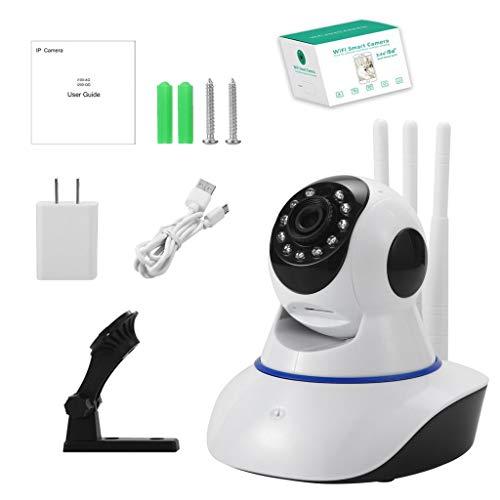 WTALL Cámara inalámbrica 720P Domo Interior bidireccional 360 Grados Seguridad cámara Web con WiFi